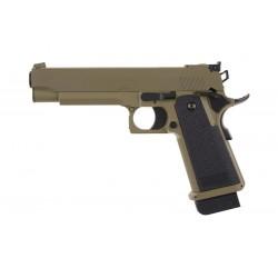 Replica Pistol Electric CM.128 HiCapa Tan Cyma