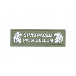 Patch SI VIS PACEM PARA BELLUM PVC Olive