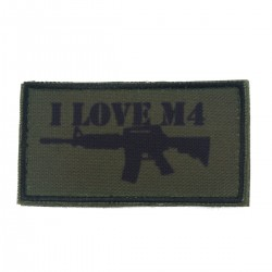 Patch I Love M4 Olive